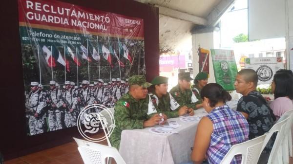 Recluta Guardia Nacional en el sur de Veracruz