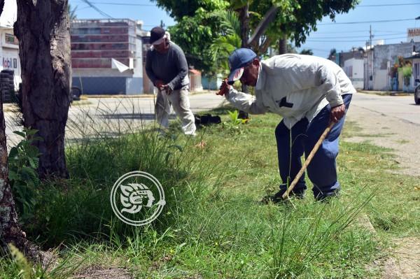 Todo terreno, trabajadores de Ornatos del Ayuntamiento de Coatzacoalcos