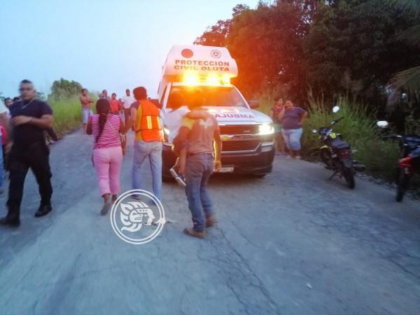 PC auxilia a motociclista accidentado en Oluta