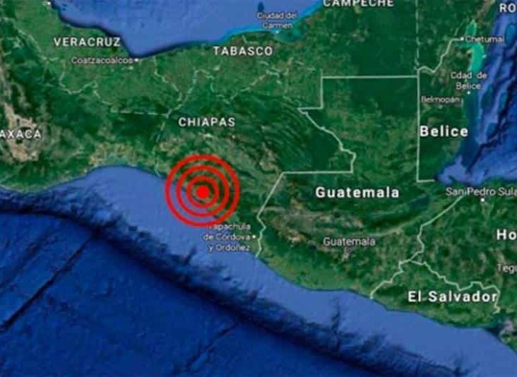 Se registra sismo con magnitud de 4.9 en Chiapas